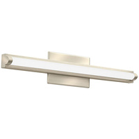1300 Lumens - LED Arrow Vanity - 18 Watt - 3000 Kelvin - Length 21.5 in. x Width 3 in. - Acrylic Lens - Brush Nickel Finish - 120-277V - Lithonia FMVCAL24INMVOLT30K90CRIBNM6
