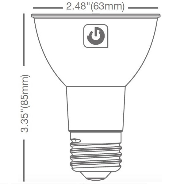 LED - PAR20 - 8 Watt - 535 Lumens Image