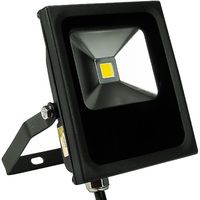 900 Lumens - Mini LED Flood Light Fixture - Landscape and Wall Washer - 10 Watt - 3000 Kelvin - Height 5.8 in. - Width 4.9 in. - 120-277V - 5 Year Warranty - PLT/S1103