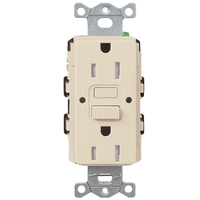 15 Amp Receptacle - Tamper-Resistant GFCI Outlet - 125 Volt - Light Almond - NEMA 5-15R