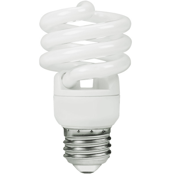 Spiral CFL - 10 Watt - 40W Equal - 5000K - Full Spectrum Image