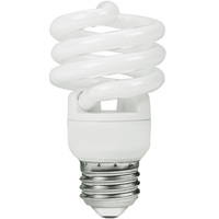 Spiral CFL - 10 Watt - 40W Equal - 5000K Full Spectrum - 85 CRI - 66 Lumens per Watt