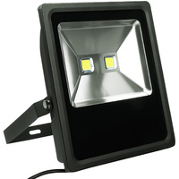 9500 Lumens - 3000 Kelvin - 100 Watt - LED Flood Light Fixture - Height 15.6 in. - Width 12.6 in. - 120-277V - 46% Brighter Than 175W Metal Halide and 43% Less Energy