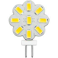 2.3 Watt - G4 Base LED Wafer - 230 Lumens - 3000 Kelvin - Halogen Color - Replaces 20 Watt Halogen - 12VDC