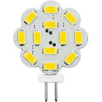 3 Watt - G4 Base LED Wafer - 300 Lumens - 3000 Kelvin - Halogen Color - Replaces 25 Watt Halogen - 12VDC