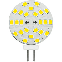 2 Watt - G4 Base LED Wafer - 230 Lumens - 3000 Kelvin - Halogen Color - Replaces 20 Watt Halogen - 12VDC