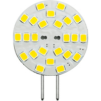 2 Watt - GY6.35 Base LED Wafer - 230 Lumens - 3000 Kelvin - Halogen Color - Replaces 20 Watt Halogen - 12VDC