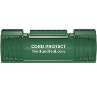 Twist and Seal Cord Protect - 6.5 x 2 in. Cord and Plug Protector - Weather Resistant - Protection for Heavy Duty Cord Connections - Green