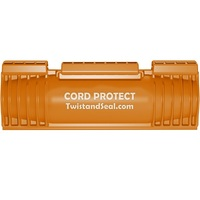 Twist and Seal Cord Protect - 6.5 x 2 in. Cord and Plug Protector - Weather Resistant - Protection for Heavy Duty Cord Connections - Orange