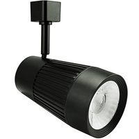 Black - Flat Back Cylinder Track Fixture - Dimmable LED Diode - Operates up to 22W - Halo Track Compatible - 120 Volt - Green Creative Aspire M 97590