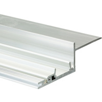 3.28 ft. Non-Anodized Aluminum NISA-KRA Channel - For LED Tape Light and Strip Light - Lens Sold Separately - Klus 18026NA_1