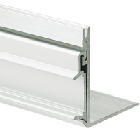 3.28 ft. Non-Anodized Aluminum NISA-KON Channel - For LED Tape Light and Strip Light - Lens Sold Separately - Klus 18027NA_1