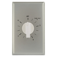 Precision PM-12H - Commercial Spring Wound Auto-Off Timer - 12 Hr. Time Cycle - SPST - Brushed Aluminum