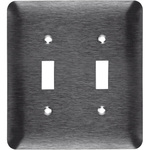 Toggle Wall Plate - Stainless Steel - 2 Gang Image