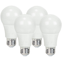 800 Lumens - 9 Watt - 60W Incandescent Equal - LED - A19 - 2700 Kelvin Warm White - 4 Pack
