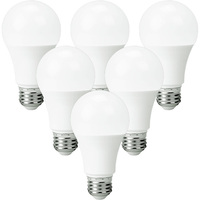 750 Lumens - 9.5 Watt - 60W Incandescent Equal - LED - A19 - 5000 Kelvin Stark White - 6 Pack