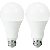 1500 Lumens - 14 Watt - 100W Incandescent Equal - LED - A21 - 5000 Kelvin Stark White - 2 Pack