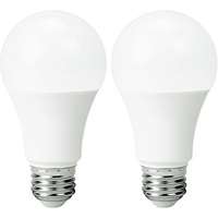 800 Lumens - 9.5 Watt - 60W Incandescent Equal - LED - A19 - 5000 Kelvin Stark White - Omni-Directional - 2 Pack