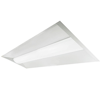 4200 Lumens - 2 x 4 LED Troffer Retrofit - 3500 Kelvin - 30 Watt - Opaque Lens - 120-277V - For use with Fluorescent Fixtures - Green Creative 28342