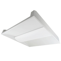 3500 Lumens - 2 x 2 LED Recessed Troffer - 25 Watt - 3500 Kelvin - Opaque Lens - 120-277V - 5 Year Warranty - Green Creative 28330