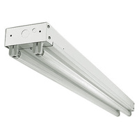 4000 Lumens - 4100 Kelvin - 4 ft. Strip Fixture with 2 LED T8 Lamps Included - 30W - Width 2.93 in. - Height 2.1 in. - 2 LED Tubes Included - PLT KIT10025