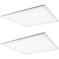 4100 Lumens - 2 x 2 LED Panel - 40 Watt - 4000 Kelvin - 120-277V - 2 Pack - PLT 55285
