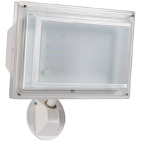 3000 Lumens - 4000 Kelvin - Color Matches Metal Halide - 42 Watt - LED Flood Light Fixture with Sensor - Severe Weather Model - Height 12.3 in. - Width 12.99 in. - Depth 12 in. - 120V - 5 Year Warranty - Amax Lighting LED-FL55WT