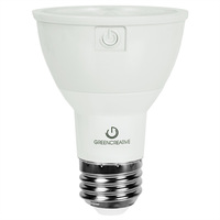 550 Lumens - 3000 Kelvin - LED - PAR20 - 8 Watt - 50W Equal - 40 Deg. Flood - CRI 90 - Green Creative 58109