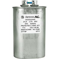 525VAC - Oil Filled Capacitor for HID Lighting - 24uf - Metal Oval Case - Aerovox Z93S5224NN