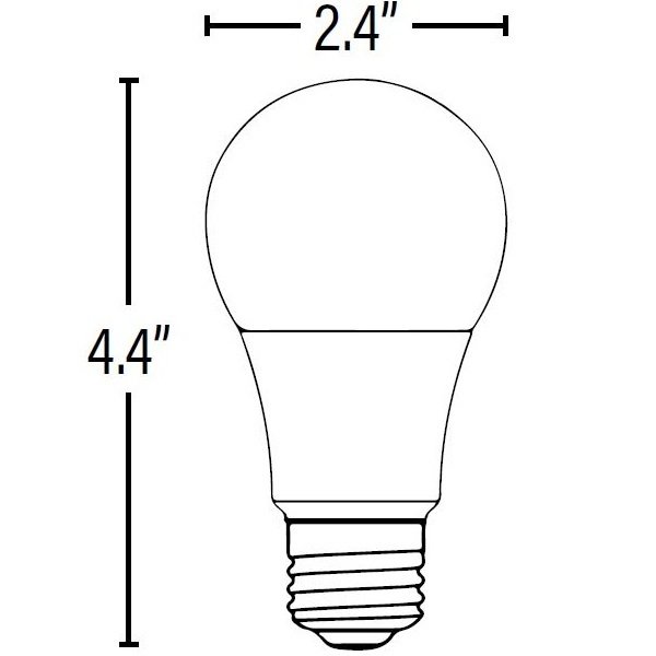 LED - A19 - 11 Watt - 75W Incandescent Equal Image