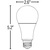 LED A21 - 3-Way Light Bulb - 40/60/100 Watt Equal