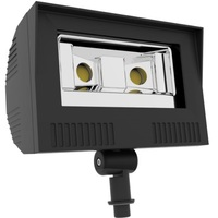 5300 Lumens - 4000 Kelvin - Color Matches Metal Halide - 50 Watt - LED Flood Light Fixture - Height 9.6 in. - Width 9.4 in. - 120-277V - Equal to a 150W Metal Halide and Uses 67% Less Energy