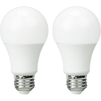 800 Lumens - 10 Watt - 60W Incandescent Equal - LED - A19 - 3000 Kelvin Halogen White - Color Corrected - Omni-Directional - 2 Pack