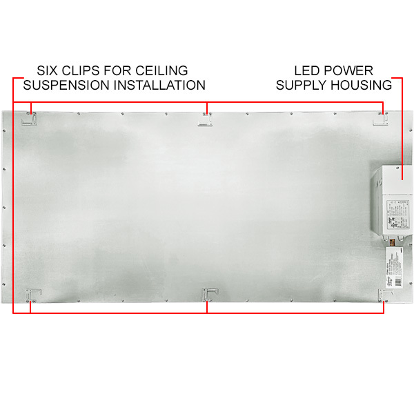 2x4 Ceiling LED Panel Light - 5000 Lumens - 36 Watt Image