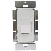 White - 0-10 VDC - LED Dimmer - Single Pole/3-Way - 50mA Max. Current - Paddle and Slide Switch - 120-277 Volt - Enerlites 51300L