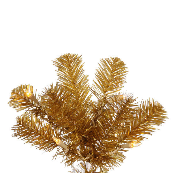 7.5 ft. x 34 in. Gold Christmas Tree Image