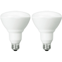 650 Lumens - 2700 Kelvin Warm White - LED BR30 - 9 Watt - 65W Equal - 120V - 2 Pack