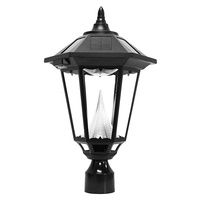 Solar Windsor Lamp with 3 in. Fitter - 6000 Kelvin - 150 Lumens - Black - Gama Sonic L99012