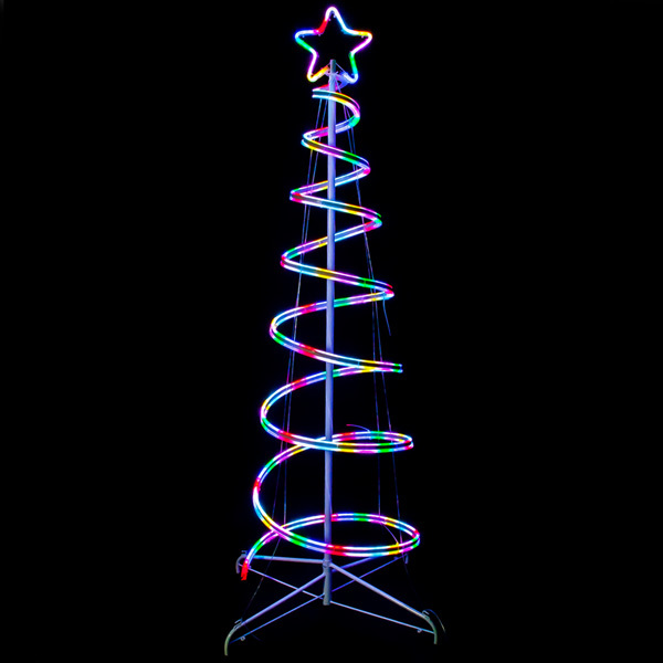 6 ft. - LED Outdoor Tree - RGB Color Changing - Installs in Minutes Image