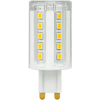 5W - G9 Bi-Pin Base LED - Dimmable - 3000 Kelvin - Halogen Color - Replaces 40W Halogen - 120 Volt