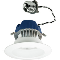 575 Lumens - 4 in. Retrofit LED Downlight - 9.5W - 50W Equal - 4000 Kelvin - Smooth Baffle Trim - Dimmable - 120V - Cree CR4575L40K12E26