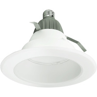 625 Lumens - 6 in. Retrofit LED Downlight - 9.5W - 65W Equal - 4000 Kelvin - Smooth Baffle Trim - Dimmable - 120V - Cree CR6625L40K12E26