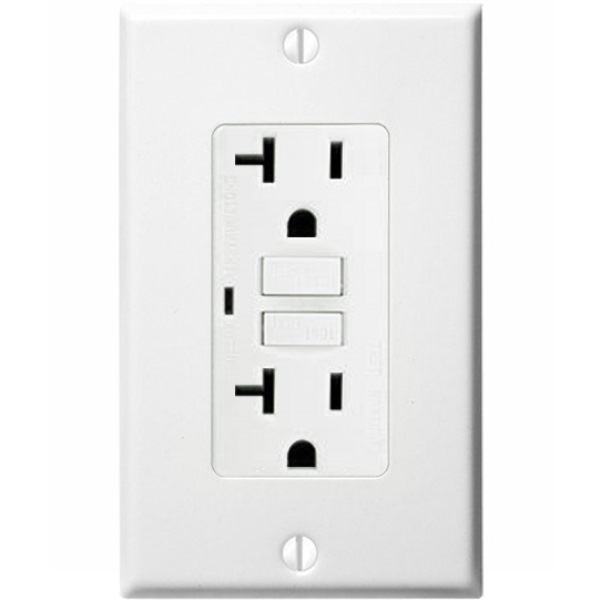 20 Amp Receptacle - GFCI Outlet Image
