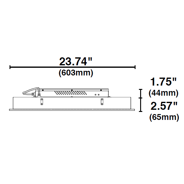 2x2 Ceiling LED Panel Light - 3000 Lumens - 35 Watt Image