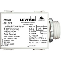 20A Wireless Dimming Module - Operates 1-10V Fluorescent Ballasts or LED Drivers - 120-277 Volt - Leviton WSD20-9D0