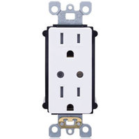 15 Amp - Wireless Controlled Duplex Receptacle - Tamper Resistant - White - 120 Volt