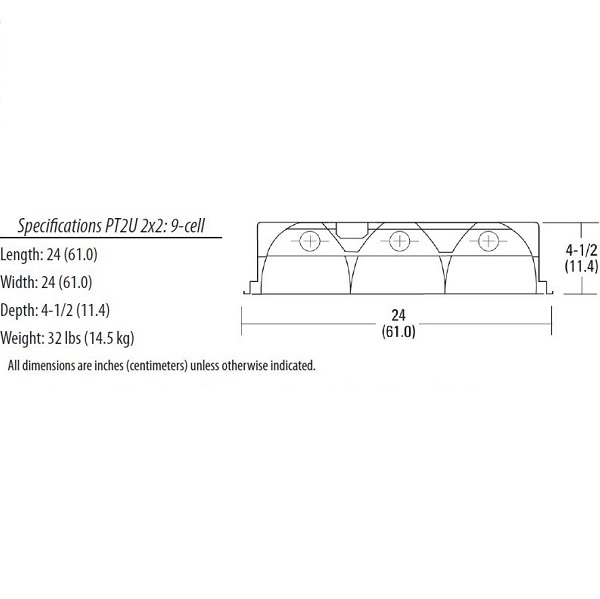 Lithonia PT2U MV - Recessed Fluorescent Fixture  Image