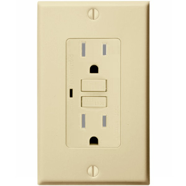 15 Amp Receptacle - Weather and Tamper Resistant GFCI Outlet Image