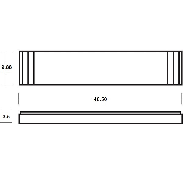 Lithonia 10813 BN - Fluorescent Linear Fixture Image