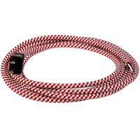 11 ft. - Red and White Houndstooth - SVT/2 Rayon Covered Cord Set - 18 AWG - 2 Prong Plug - Indoor Use Only